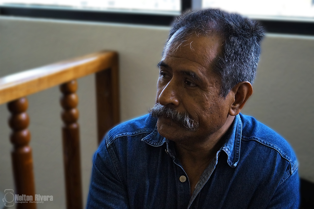 Don Taño sits in awaiting a court hearing while under pre-trial detention. Photo credit: Nelton Rivera