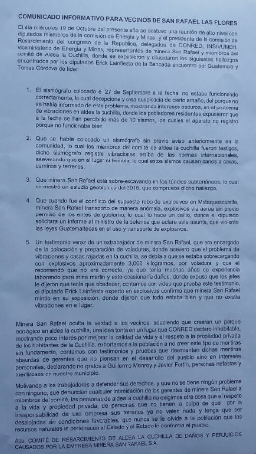 ComunicadoInformativo_LaCuchilla