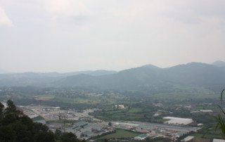 View looking down on the Escobal mine.