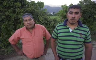 Eric and Artemio Castillo at scene of shooting San Raf