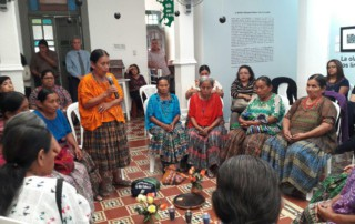 """Drawing deeply on Mayan spirituality, Demecia Yat opened the event with an invocation to the 'Ajaw,' the Creator: """"The Fire lights our path and this will always give us strength."""""""