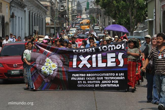 Rios Montt Genocide Trial. Guatemala, Guatemala. April 19, 2013.