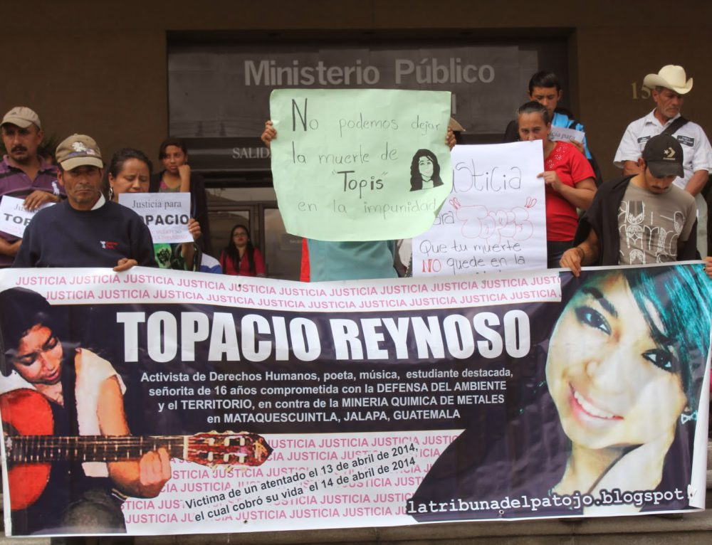 Forty-six international and Guatemalan organizations call for the restoration of security measures for the Reynoso Pachecho family