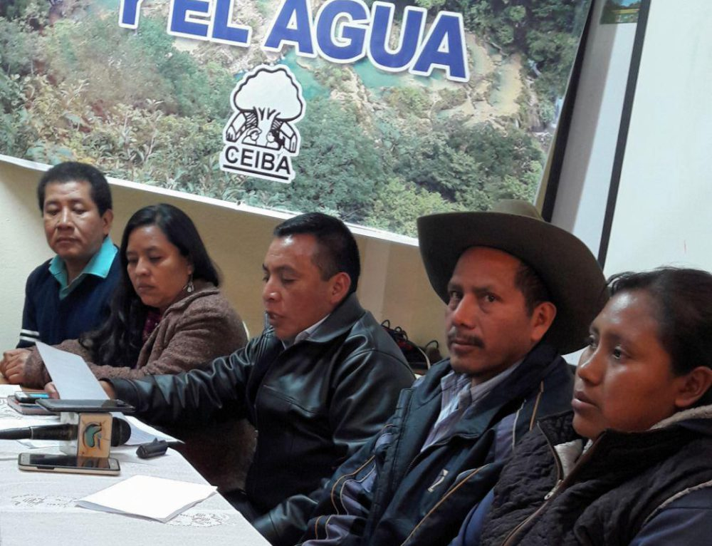 Environmental defenders from Huehuetenango denounce threats to their land and water
