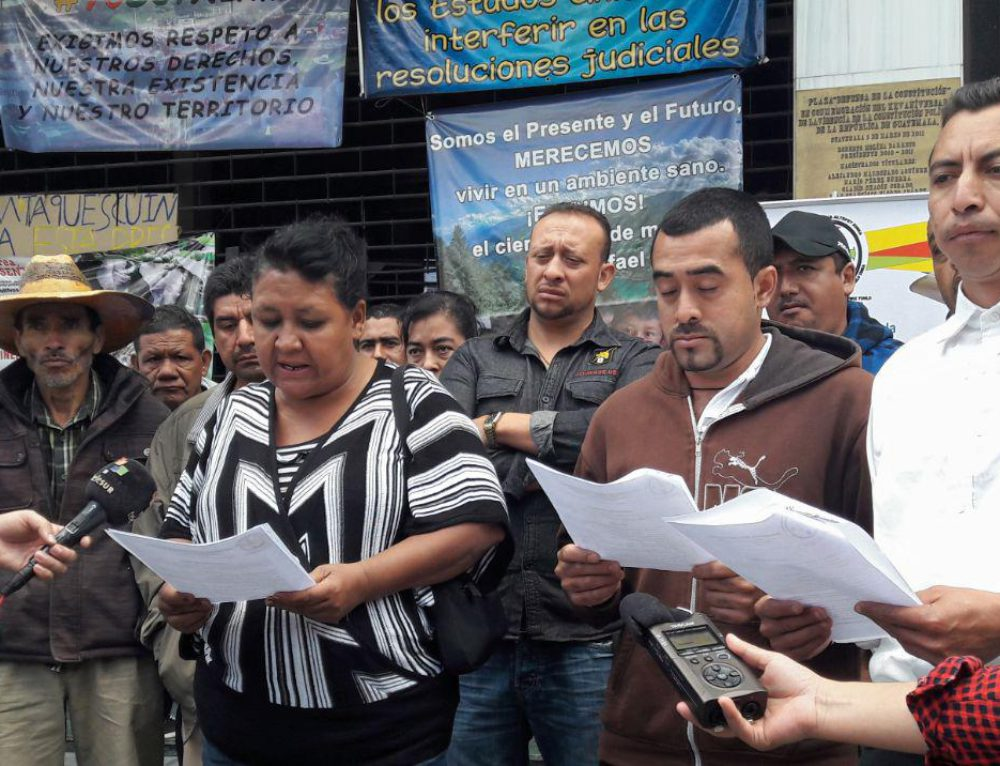 Guatemalan communities denounce Tahoe Resources for trying to provoke conflict during suspension of Escobal mine