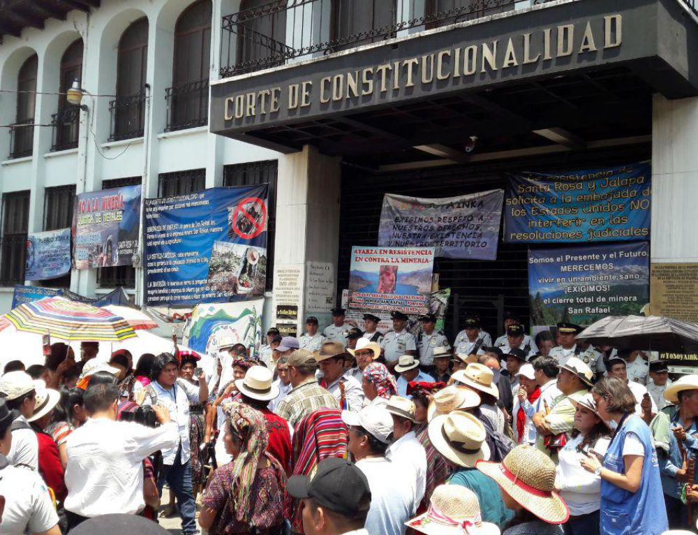 Fifty four Guatemalan and international organizations reject US intervention in Guatemalan mining case