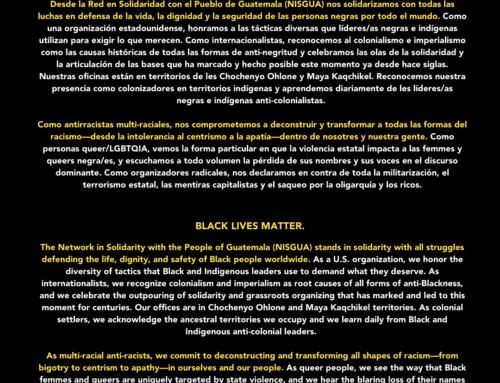 LAS VIDAS NEGRAS IMPORTAN // BLACK LIVES MATTER