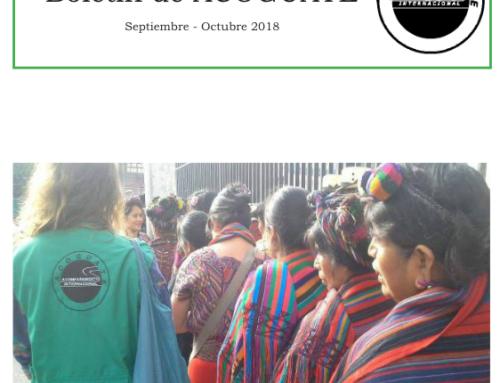 Boletín de ACOGUATE: septiembre-octubre 2018
