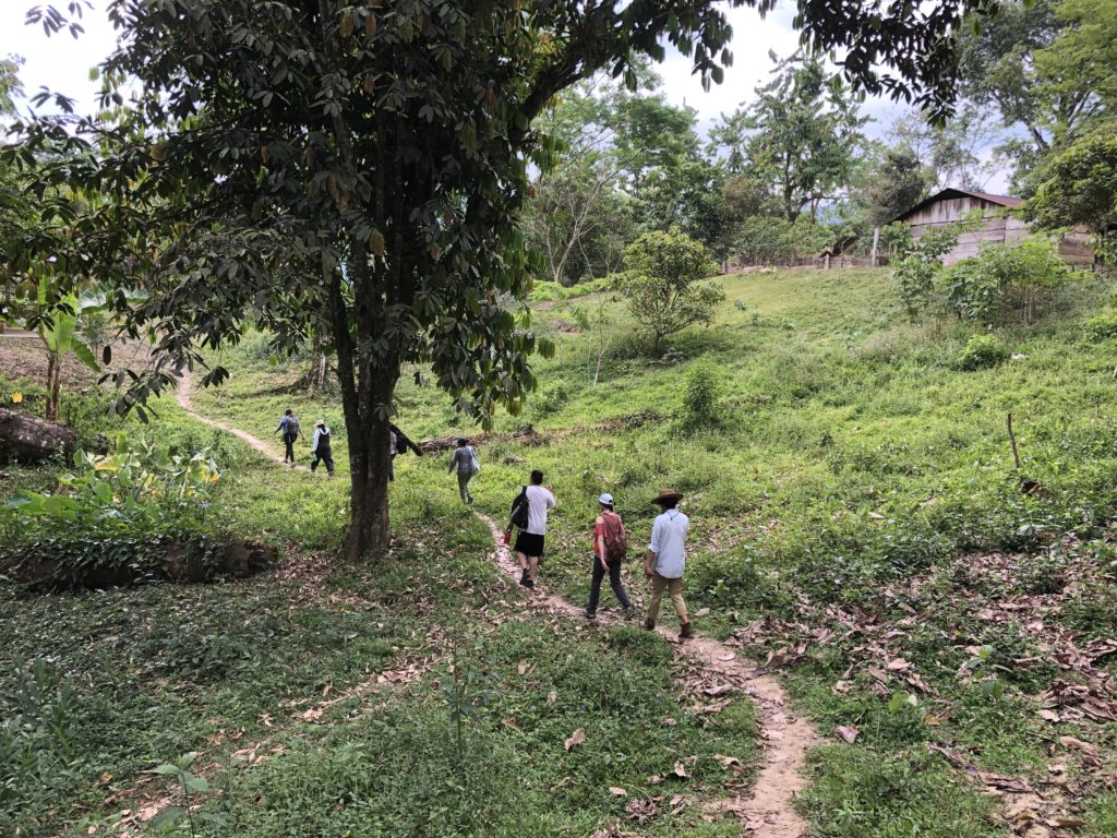Several delegates walk up a path in Las Margaritas Copón. Photo credit: Chantelle John
