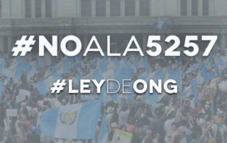 """Gráfico que dice: """"#NoALa5257"""" y """"#LeyDeONG"""""""