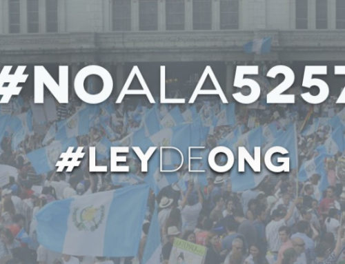 Guatemalan National Organizations denounce NGO law