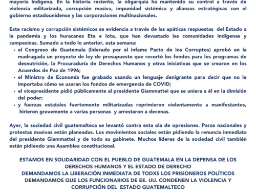 #NoNosPela // Solidaridad con los levantamientos guatemaltecos