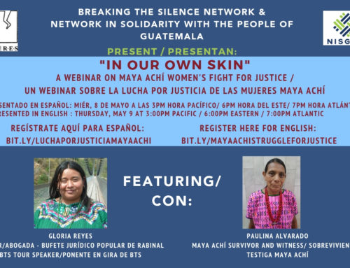 CLOSED: Webinar and photo series in solidarity with Maya Achí survivors