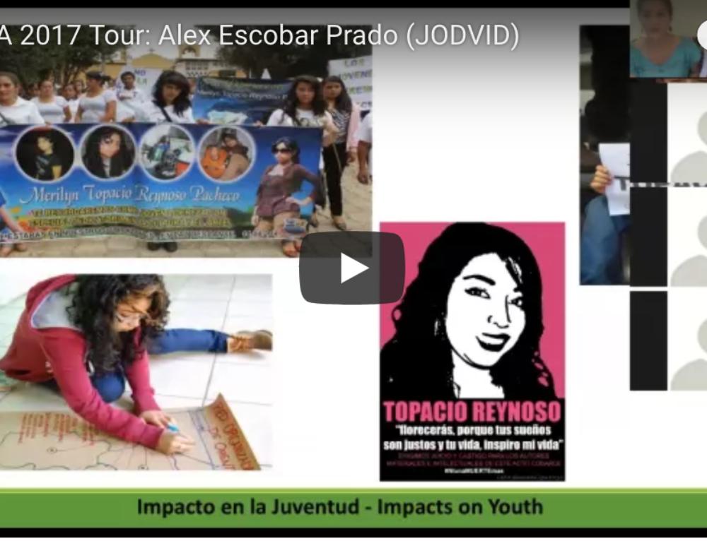 Recording: Alex Escobar talks about youth organizing; Grabación: Alex Escobar habla sobre la organización juvenil