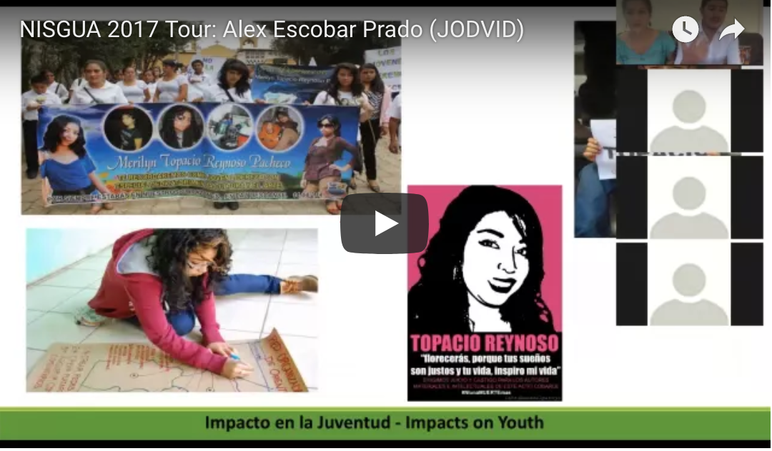 Recording: Alex Escobar talks about youth organizing; Grabación: Alex Escobar habla sobre la organización juvenil