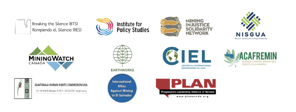 Logos of the international organizations that signed a public statement in solidarity with La Puya.