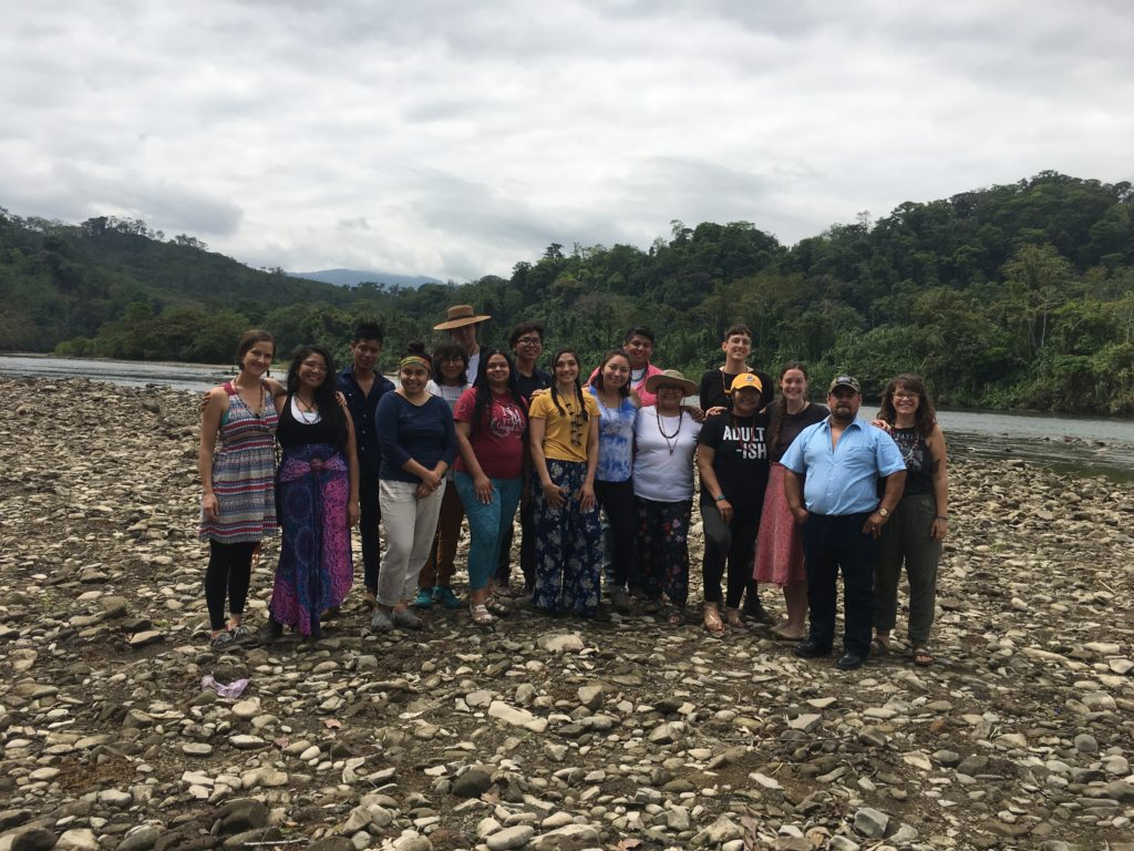 The whole group says goodbye to the Chixoy River and the Copal AA community before our bus trip back to the capital.