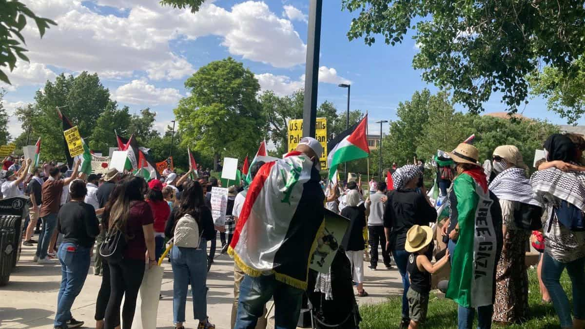 Picture from the 2021 Nakba commemoration at Tiguex Park.