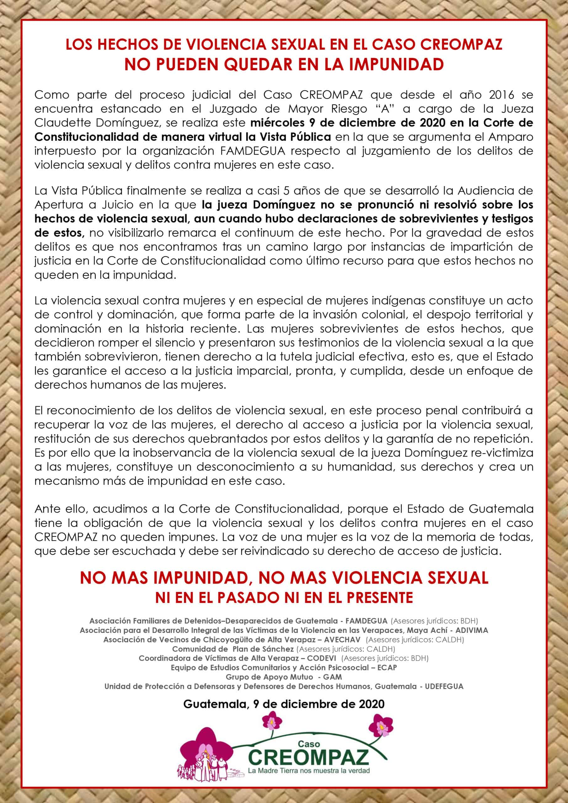 Visual of the CREOMPAZ statement